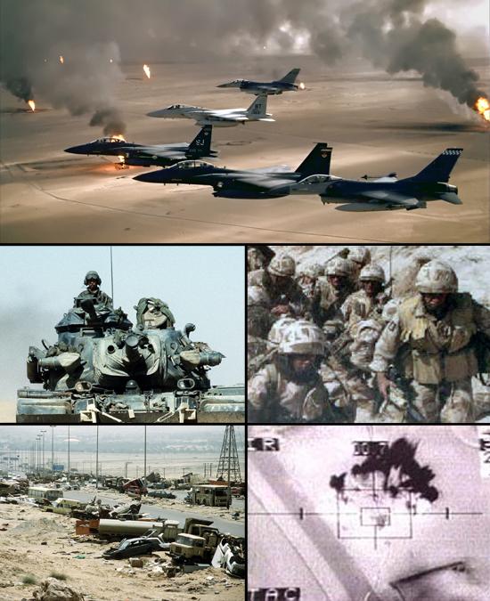 Mỹ và liên quân ngay từ đầu đã làm chủ bầu trời, làm mềm chiến trường để Lục quân dễ dàng làm nốt phần việc còn lại tại Iraq.