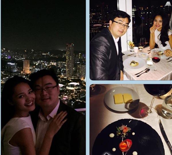 5 năm chung sống cùng người vợ xinh đẹp, Liu Jia luôn thể hiện là người lãng mạn, biết quan tâm đến gia đình vào những ngày kỉ niệm hay lễ tết.