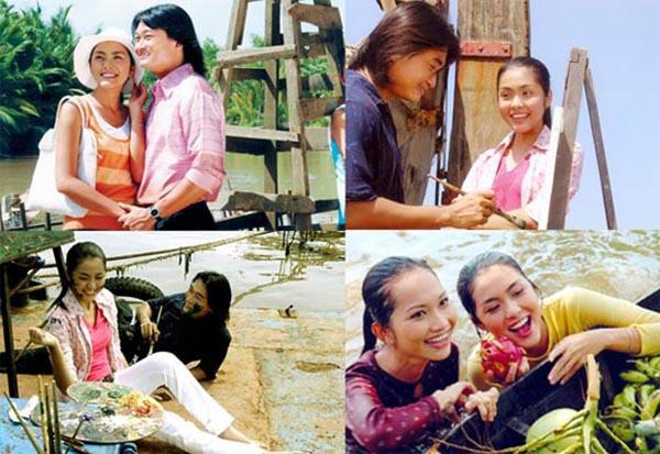 Hình ảnh của Tăng Thanh Hà trong phim Hương Phù Sa.