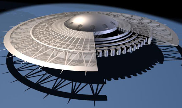 Mô hình đĩa bay với động cơ phản trọng lực