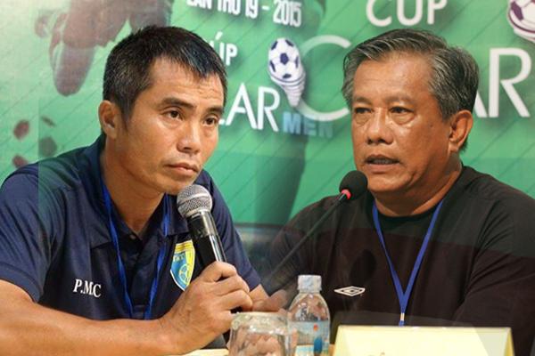 HLV Phạm Minh Đức (trái) và HLV Trần Ngọc Thái Tuấn (phải) bất đồng trầm trọng xung quanh việc tuyển chọn nhân sự cho U21 Việt Nam. Ảnh: Thể thao Việt Nam