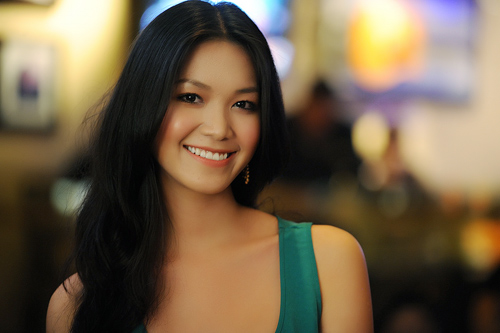 Nhan sắc của Hoa hậu khi đã có công nghệ trang điểm và được nhiếp ảnh gia chuyên nghiệp chăm sóc.