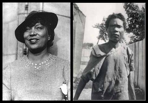 Nhà nhân loại học Zora Neala Hurston (bên trái) đã đến Haiti để nghiên cứu trường hợp của Felicia Felix-Mentor (bên phải) năm 1937.