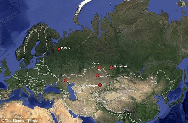 Bản đồ địa lý những khu vực quan sát thấy vật thể lạ.