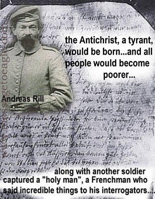 """Andreas Rill và bức thư đề cập tới """"người đàn ông thần thánh"""""""