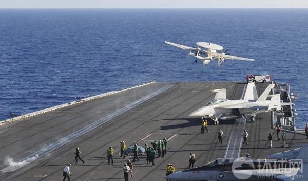 Tàu sân bay Mỹ hiện diện ở Biển Đông vào giai đoạn nhạy cảm khiến Trung Quốc đứng ngồi không yên. (Ảnh tư liệu: Hoàn Cầu)