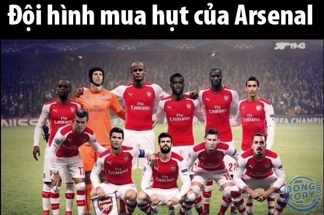 Arsenal thì bình thản thôi, họ mua hụt quen rồi