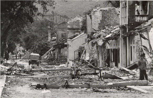 Cảnh TX Lạng Sơn bị quân TQ tàn phá (Ảnh tư liệu)