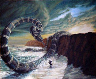 Jormundgan là 1 con rắn khổng lồ.