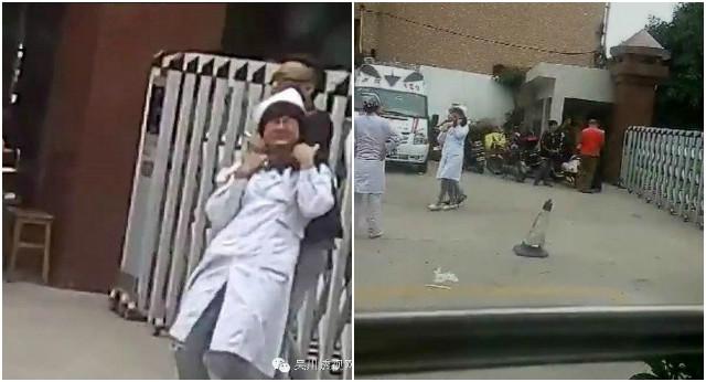 Người đàn ông xông vào bệnh viện, kề cao vào cổ y tá Li và bắt cô làm con tin.