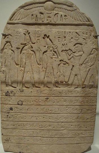 Phiến đất sét ghi lời nguyền trong lăng mộ Tutankhamen. Ảnh: Ancient