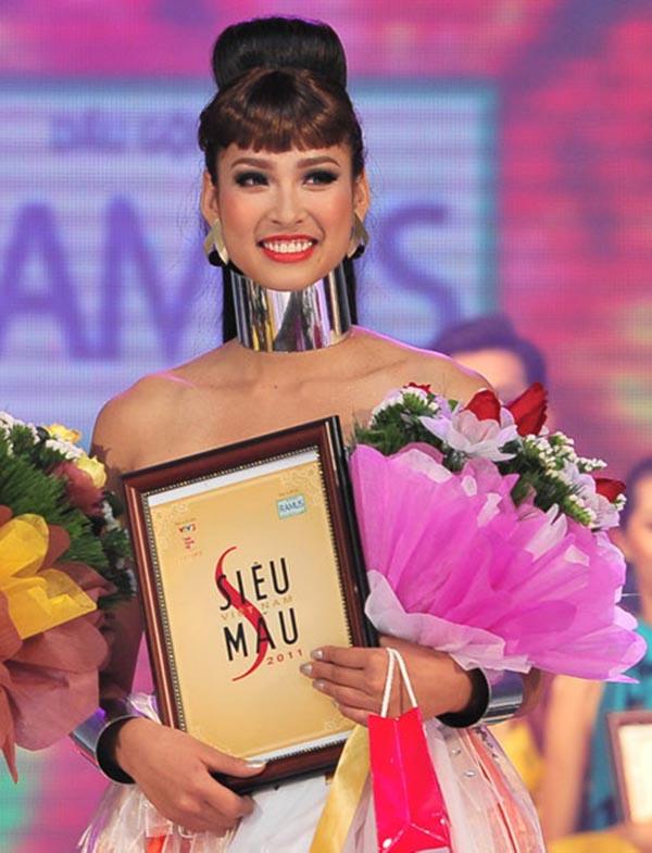 Vương Thu Phương từng đăng quang Siêu mẫu Việt Nam 2011. Song mỹ nhân sinh năm 1991 chỉ được nhiều người chú ý khi ghi danh vào Hoa hậu Việt Nam 2012.