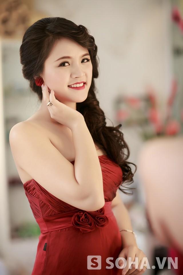 Hình ảnh của Thu Quỳnh khi đang mai thai ba tháng.