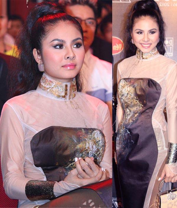 Liên tục đứng top những sao mặc xấu và thích khoe nhược điểm ngoại hình, hình ảnh già trước tuổi của Vân Trang thường xuyên bị khán giả chê bai, ném đá.