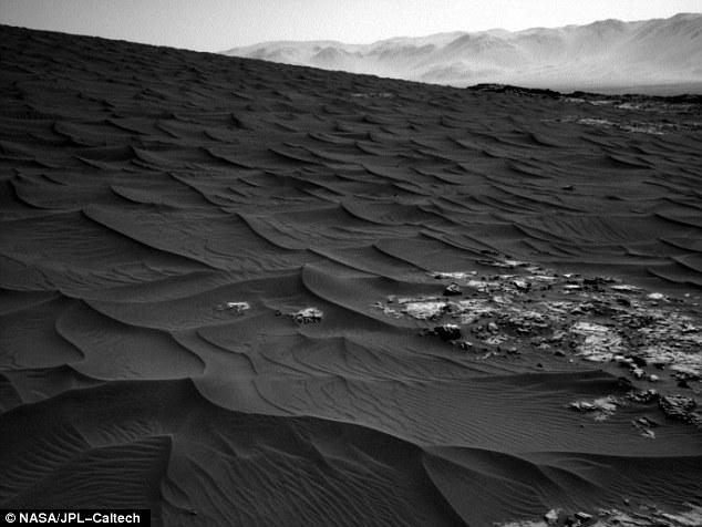 Ảnh chụp những gợn sóng cát trên sao Hỏa