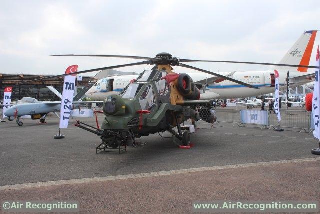 Trực thăng vũ trang T129 Atak của Thổ Nhĩ Kỳ.