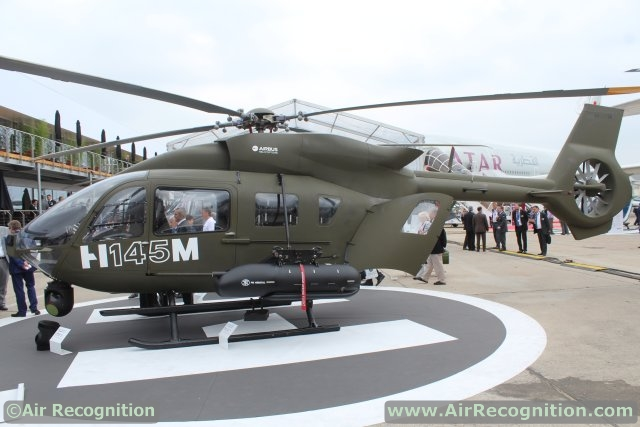 Trực thăng hạng nhẹ H145M (hay còn được biết đến dưới tên EC645 T2) do Airbus Helicopters chế tạo.