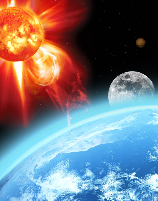 Năm 2480 - Hai mặt trời nhân tạo va vào nhau, Trái đất bị rơi vào tình trạng hỗn loạn.