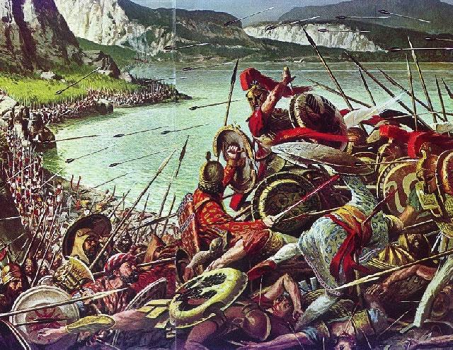 Tranh vẽ miêu tả lại trận chiến
