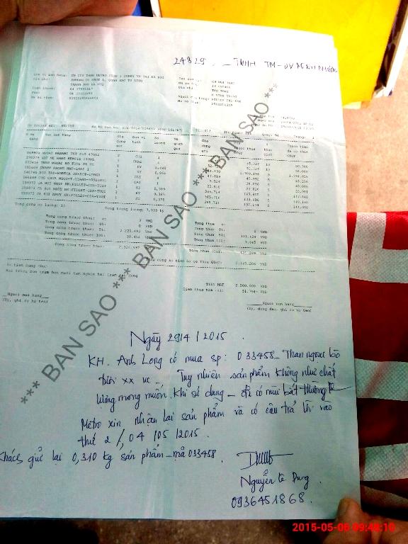 Metro hẹn anh Long có câu trả lời vào ngày 4/5 nhưng đến nay vẫn chưa có thông tin chính thức
