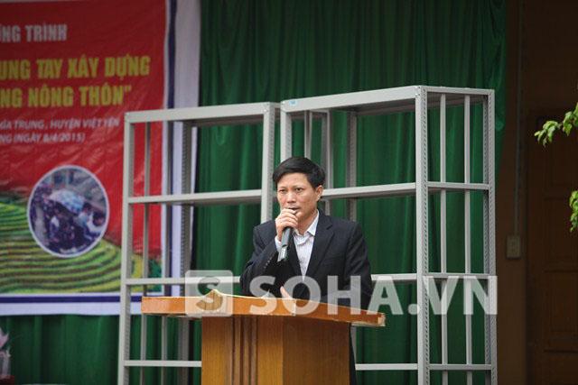 Ông Ngô Trí Thông, Hiệu trưởng trường THCS Nghĩa Trung, Việt Yên, Bắc Giang.
