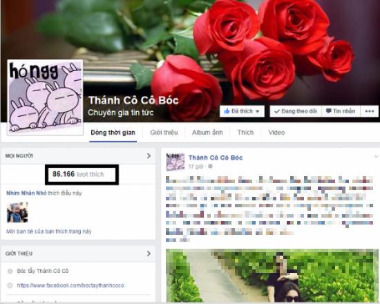 Facebook Thánh Cô Cô Bóc thu hút sự chú ý của cư dân mạng với những câu chuyện về đời tư nghệ sĩ không có kiểm chứng.
