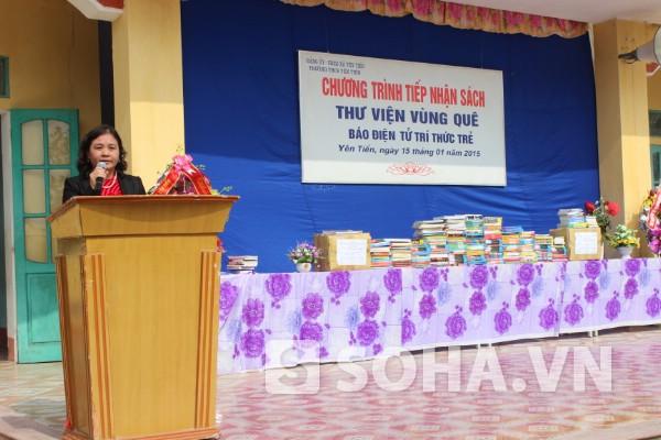 Bà Vũ Thị Dung - Hiệu trưởng Trường THCS Yên Tiến.