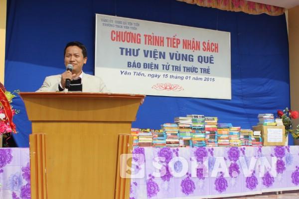 Nhà báo Bùi Ngọc Hải nhấn mạnh vai trò của việc đọc sách qua những câu chuyện hay.