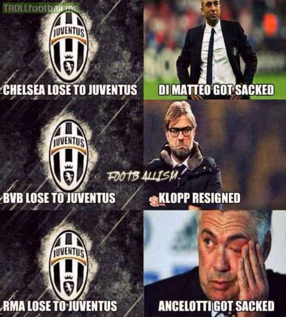Juventus đã góp phần tiễn khá nhiều HLV