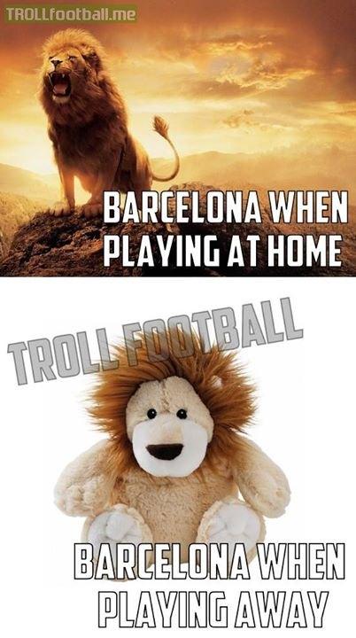 Barca khi ở sân nhà và sân khách