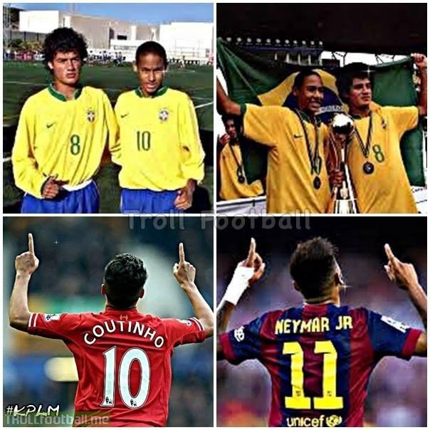 Coutinho và Neymar, ngày ấy bây giờ