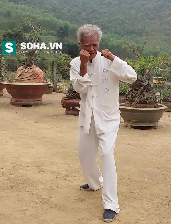 Võ sư Phi Long biểu diễn võ thuật.