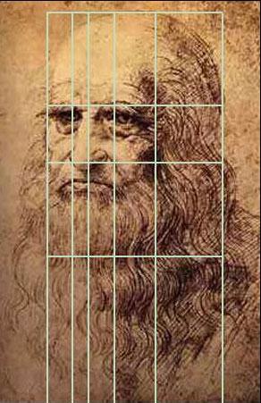 Bức tự họa Leonardo Da vinci theo tỉ lệ vàng