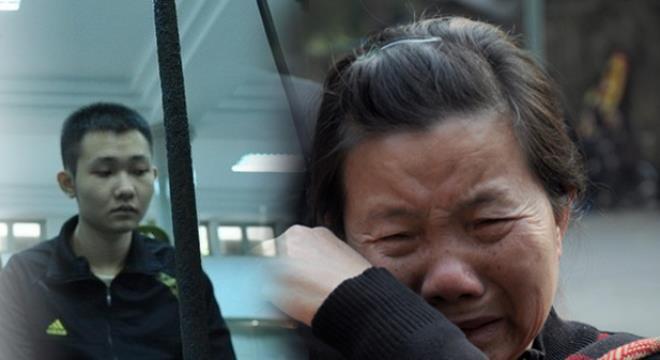Ảnh Khánh trong phiên tòa xử sơ thẩm và bà Yến.