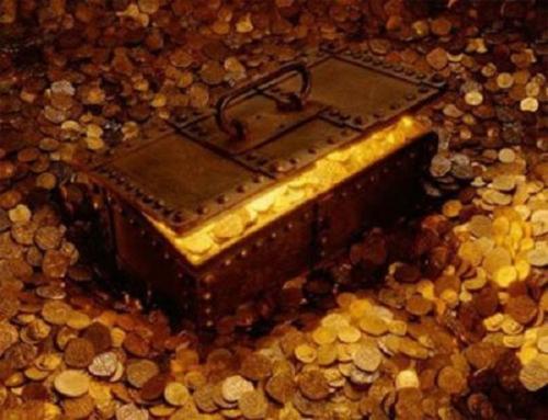 Ước tính kho báu có giá trị lên tới 6.000 tấn vàng.