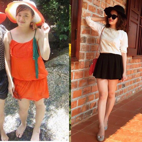 Hình ảnh trước và sau khi giảm cân được chia sẻ trên trang cá nhân của Yến Nhi khiến nhiều người ngỡ ngàng