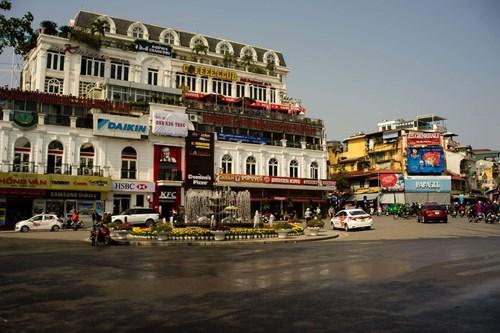 Quảng trường Đông Kinh Nghĩa Thục vắng vẻ ngày cuối năm (Ảnh: Tiền phong)