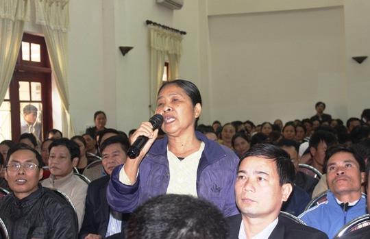 Bà Hà Thị Bản đề nghị để lại mấy trăm mét bờ biển để ngư dân mưu sinh