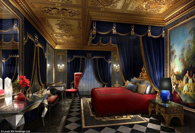 ngủ được thiết kế theo phong cách hoàng gia.