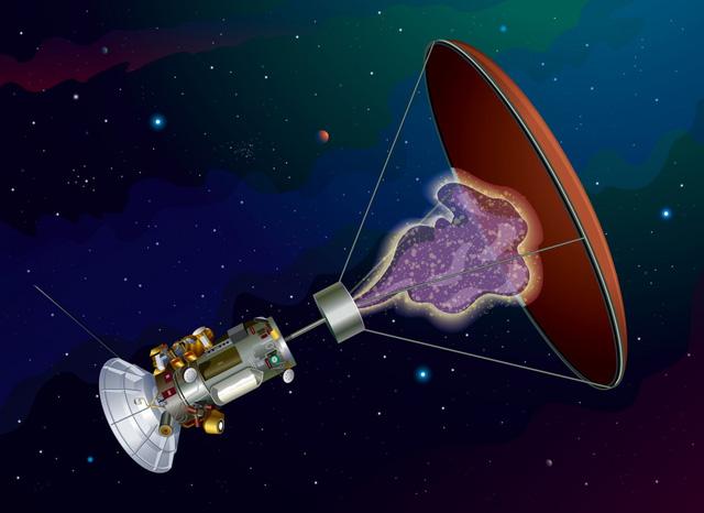 Hình ảnh concept của tàu thăm dò phản vật chất của Hbar Technologies.