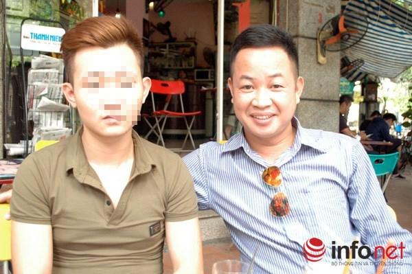 Luật sư Nguyễn Anh Thơm (bên phải) người được chỉ định bảo vệ cho em Khánh