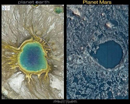 So sánh thành phần bùn trong Trái Đất và Sao Hỏa