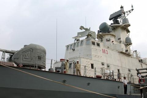 Một chiếc tàu tên lửa Molniya do nhà máy Ba Son đóng