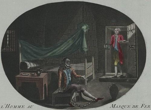 Tù nhân với biệt danh Người đàn ông mang mặt nạ sắt bị giam giữ tại nhà ngục Pháp thời vua Louis XIV.