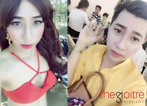 Chàng trai 9x có biệt tài hóa trang thành nữ giới là Huỳnh Tấn Đạt sinh năm 1993, hiện đang sống ở Bến Tre.
