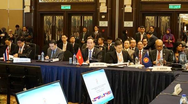 Bộ trưởng Trần Đại Quang tại Hội nghị cấp Bộ trưởng các nước ASEAN +3 về phòng, chống tội phạm xuyên quốc gia lần thứ 7. (9-2015).