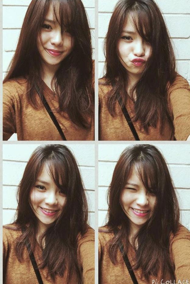 Hình ảnh selfie hồn nhiên, đáng yêu của Thu Trang.