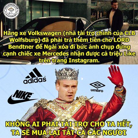 Lord Bendtner ngày càng vô đối.