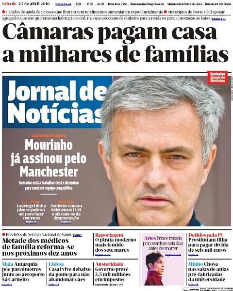 Thông tin đăng tải trên tờ Jornal de Noticias.