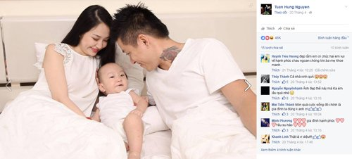 Hơn 40.000 lượt thích bức ảnh gia đình của Tuấn Hưng